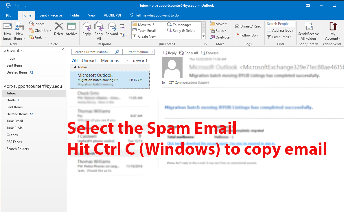 Knowledge - Cloud Spam Filtering for BYU by Microsoft EOP